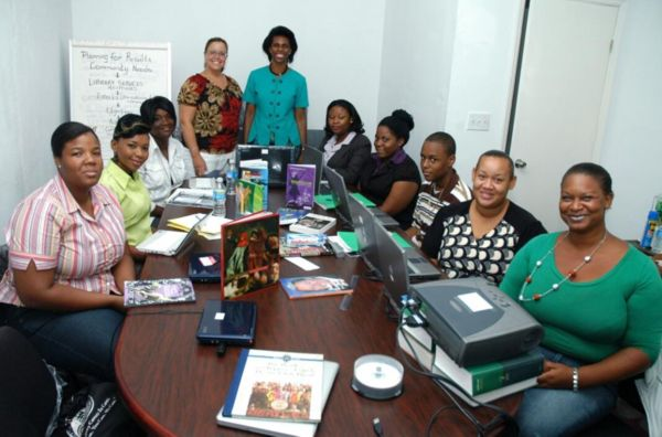 Bahamas library trainees at workshop