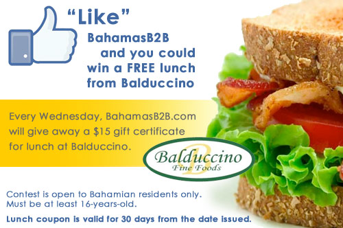BahamasB2B Lunch Giveaway