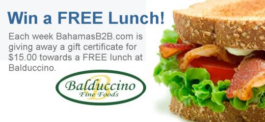 Win a FREE Lunch at Balduccino