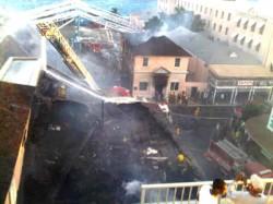 Fire on Bay Street