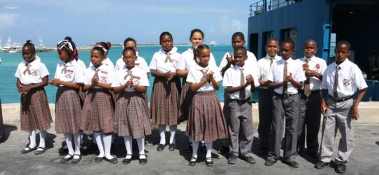 Morrisville Primary School Students - Long Island Bahamas