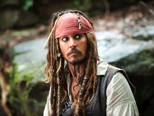 Johny Depp in Pirates of The Caribbean