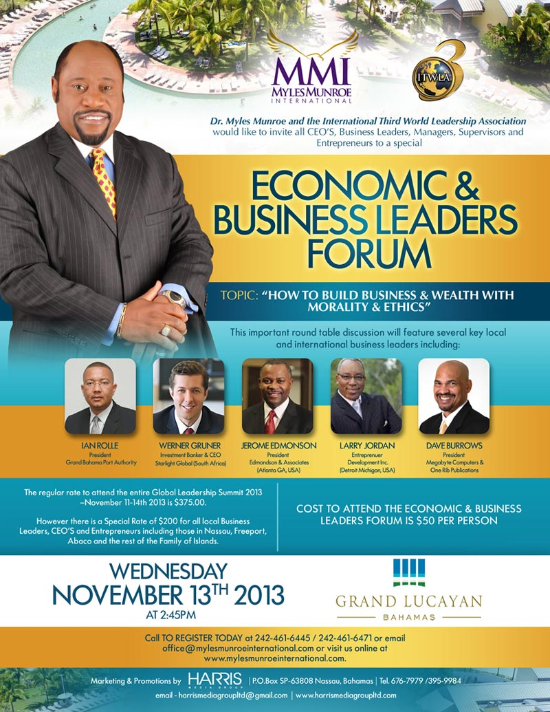Leadership Summit To Be Held In Grand Bahama