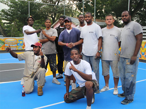Bahamas Striping Helps Inner City Young Men