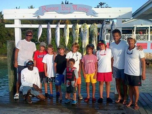 Youngsters Participate In Afternoon Fishing At Romora Bay