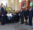U.S. Embassy Presents Vehicle to Freeport Immigration
