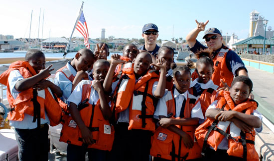 Woodcock Primary Students Tour U.S. Coast Guard Cutter GANNET