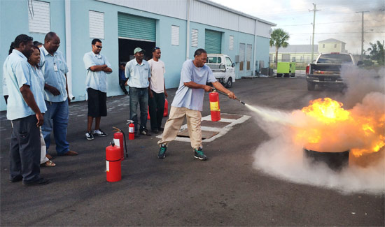 Ports International Receives Fire Safety Training