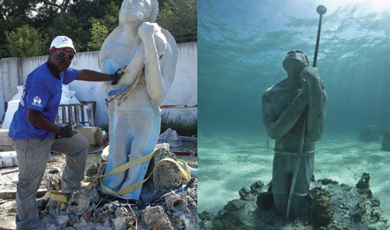 BREEF Gains International Attention for Underwater Sculptures