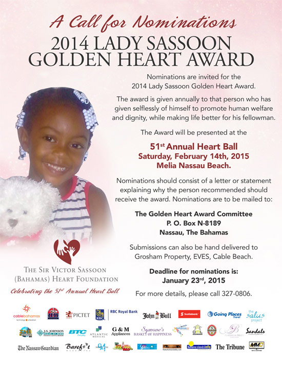Call For Nominations For The 2014 Lady Sassoon Golden Heart Award
