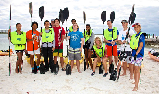 kayaking-group