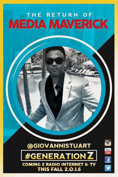 Giovanni Stuart Plots Media Return with New GenerationZ Live Radio Internet TV Show