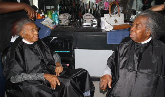 Senior Citizens Get Pampered