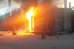 Power generator at Blue Hills damaged by fire this afternoon…