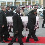 Ribbon-Adorned Coffin