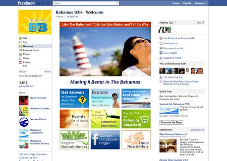 Custom Facebook Welcome Page