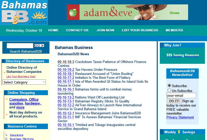 BahamasB2B circa 2000