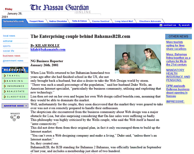BahamasB2B helped develop the Internet in The Bahamas