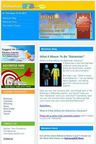 BahmasB2B Newsletter