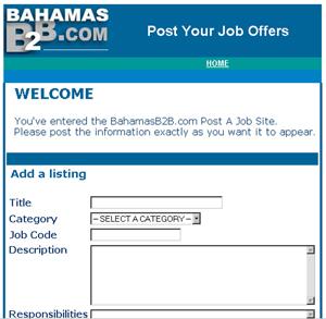 Online Bahamas Post a Job site