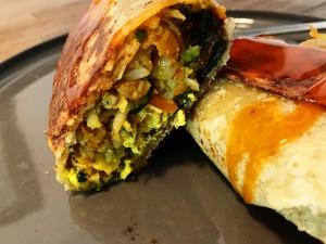Plant-based Bahamas Breakfast Burritos