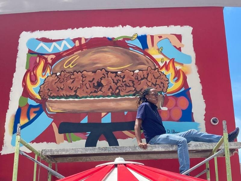 Mural by Deime Ubani