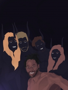 """Demons Are Better Than Friends"" Art Exhibit by Rashad Adderley"